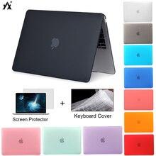 Macbook Air 13 용 노트북 케이스 A2179 2020 Pro 11 12 13 13.3 15 A2289 Mac book Pro 16 A2141 + 키보드 커버 용 새 터치 바 ID