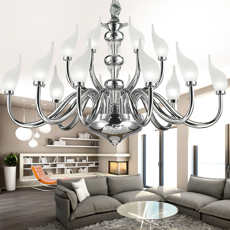 LED K9 Crystal swan Pendant Lights Northern Europe Plated Chrome 90-260V Pendant lamp rose water lily chromeplate Swan droplight диски helo he844 chrome plated r20