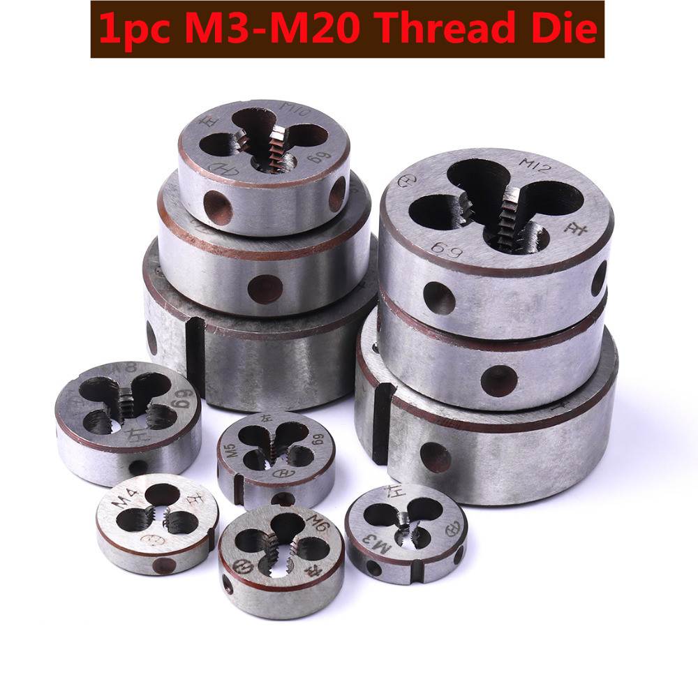 Professional Alloy Steel High Hardness Dies Round Left Hand Durable Threading Dies M3~M20 For Metalworking