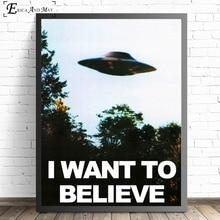 Я хочу поверить X файл ТВ Играть Печать на холсте Современная живопись плакаты настенные художественные картины для гостиной украшения без рамки