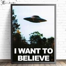 I Want To Believe X File TV Play Canvas Prints Modern Painting Posters Wall Art Pictures For Living Room Decoration No Frame