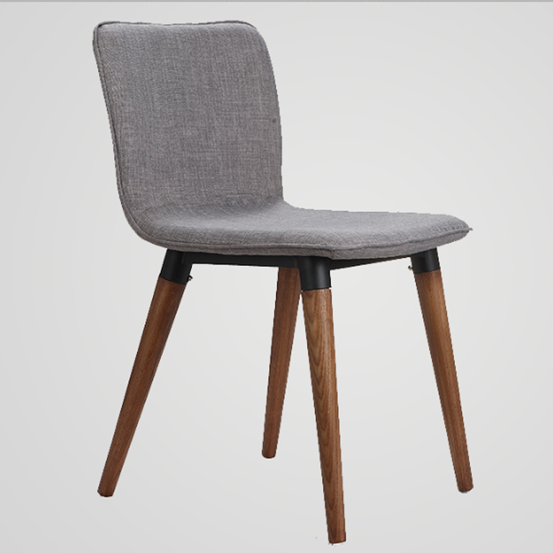6 pieces for a lot coffee chairs ash solid wood legs fabric cushion dining chairs ch177 natural side chair walnut ash
