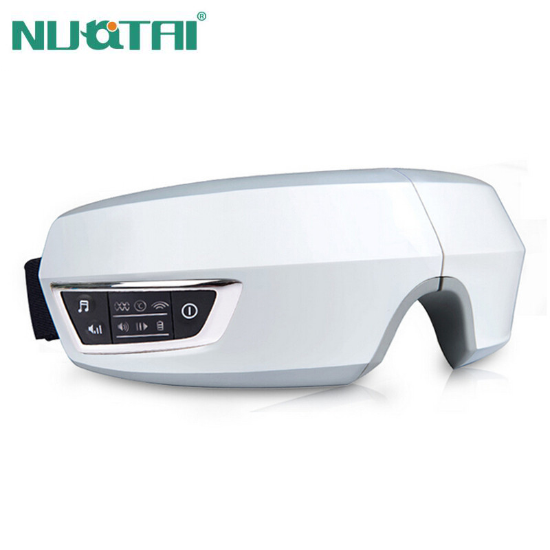 NUOTAI Electric Air pressure Eye massager with mp3 functions Wireless vibration eye magnetic far infrared heating