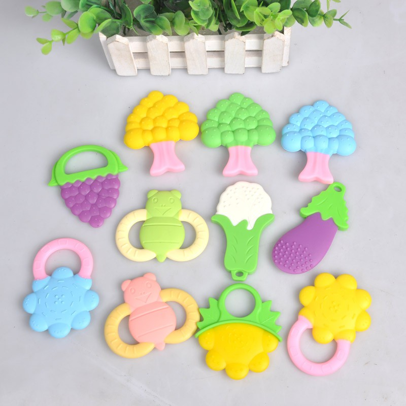 Newborn Baby Kid Infant Safety Teeth Stick Silicone Teether Rear Molar Silicone Baby Lovely Fruit Baby Care Products