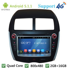 Quad Core 8″ Android 5.1.1 Car DVD Multimedia Player Radio Audio BT FM DAB+ 3G/4G WIFI GPS Map For Mitsubishi ASX 2010 2011 2012