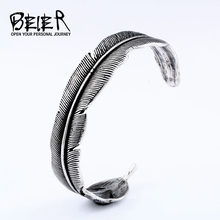 BEIER new arrive 316L stainless steel Takahashi bracelet Men Vintage Cuff Bracelet Quality Bangle Fashion Jewelry gift BRG-026(China)
