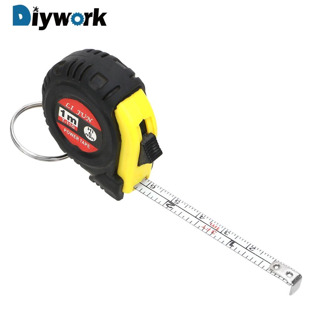 Diywork régua retrátil fita de medição portátil puxar régua 1m mini costura pano métrica ferramenta alfaiate ferramentas medição fita medida