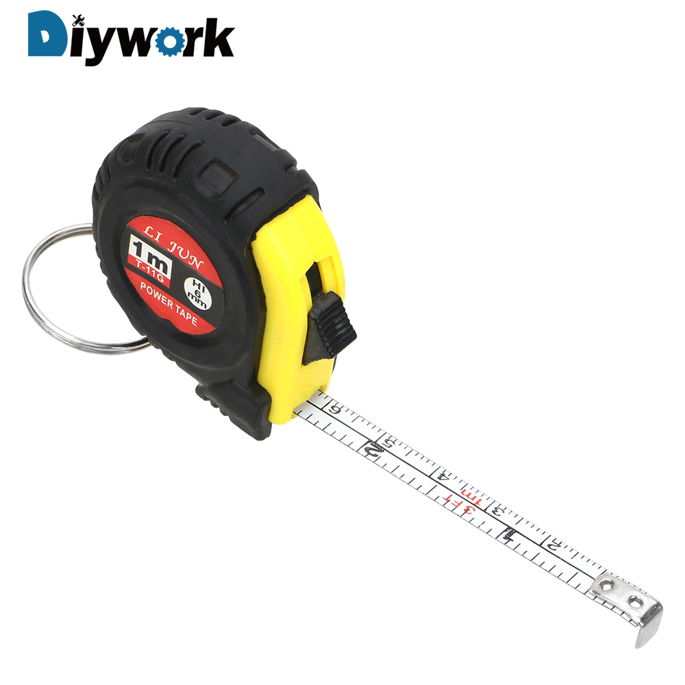 DIYWORK Retractable Ruler Measuring Tape Portable Pull Ruler 1m Mini Sewing Cloth Metric Tailor Tool Gauging Tools Tape Measure