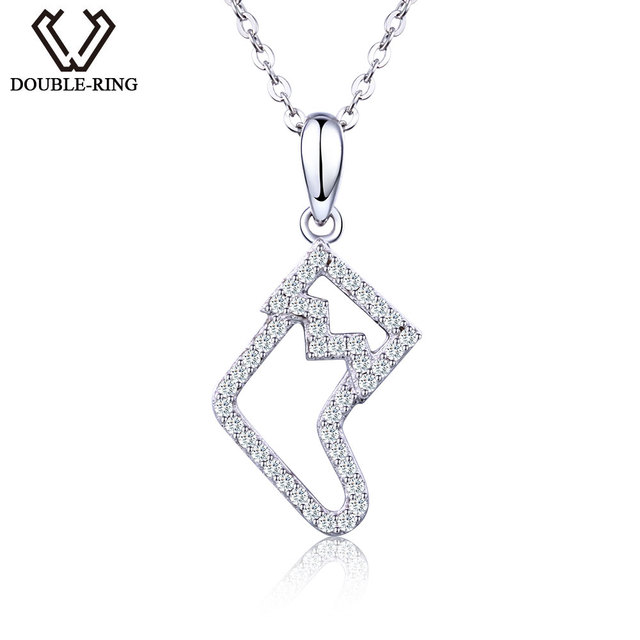 Double r individuality cubic zirconia christmas stocking pendant double r individuality cubic zirconia christmas stocking pendant 925 sterling silver engagement wedding necklaces junglespirit Image collections