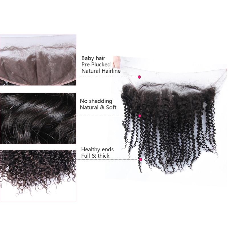 뜨거운 미용 머리 레이스 정면 예비 아기 머리와 - 인간의 머리카락 (검은 색) - 사진 2