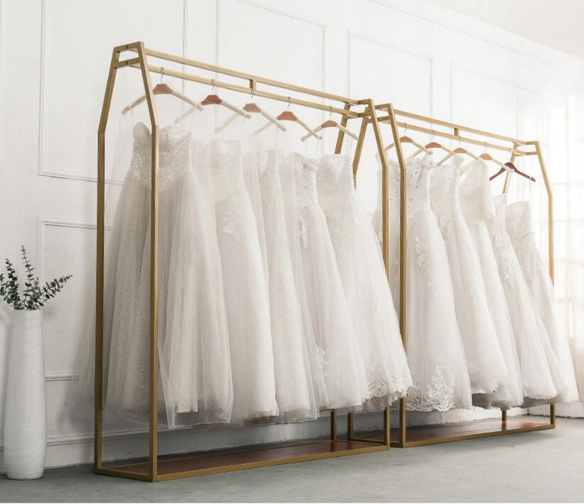 Wedding Gown Display: Golden Wedding Dress Rack, Display Rack Wedding Dress Shop