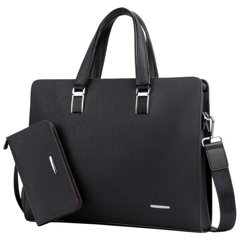 2019 Hot Sale Men's Business Brifecase PU Leather Laptop Bags Large Capacity Business Brifecase For Businessmen Handbag Bags