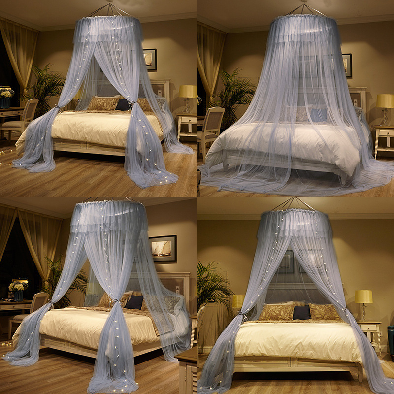 French Princess Girl Bed Canopy Lace Hanging Mosquito Net