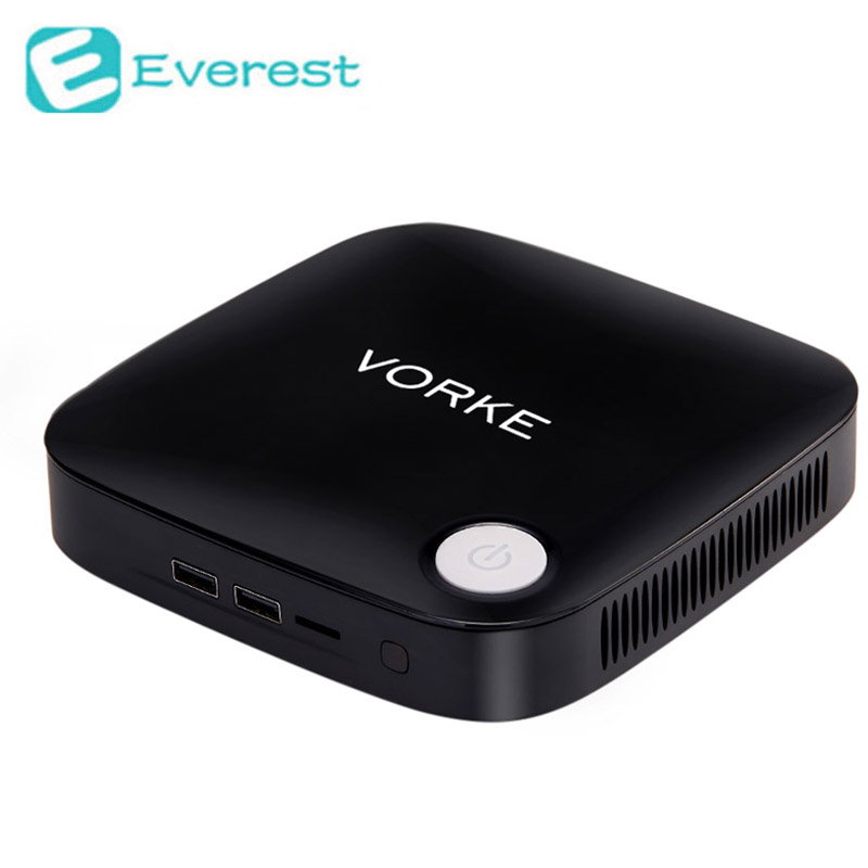 Vorke v1 windows 10 mini pc tv box intel braswell J3160 Celeron 1.6 GHz 4 GB RAM