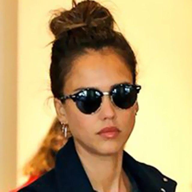 b26d0359e القط العين الشهيرة جديد موضة نظارات الرجال النساء مرآة صغيرة مستديرة سيدة  الإناث الاتجاه نظارات شمس