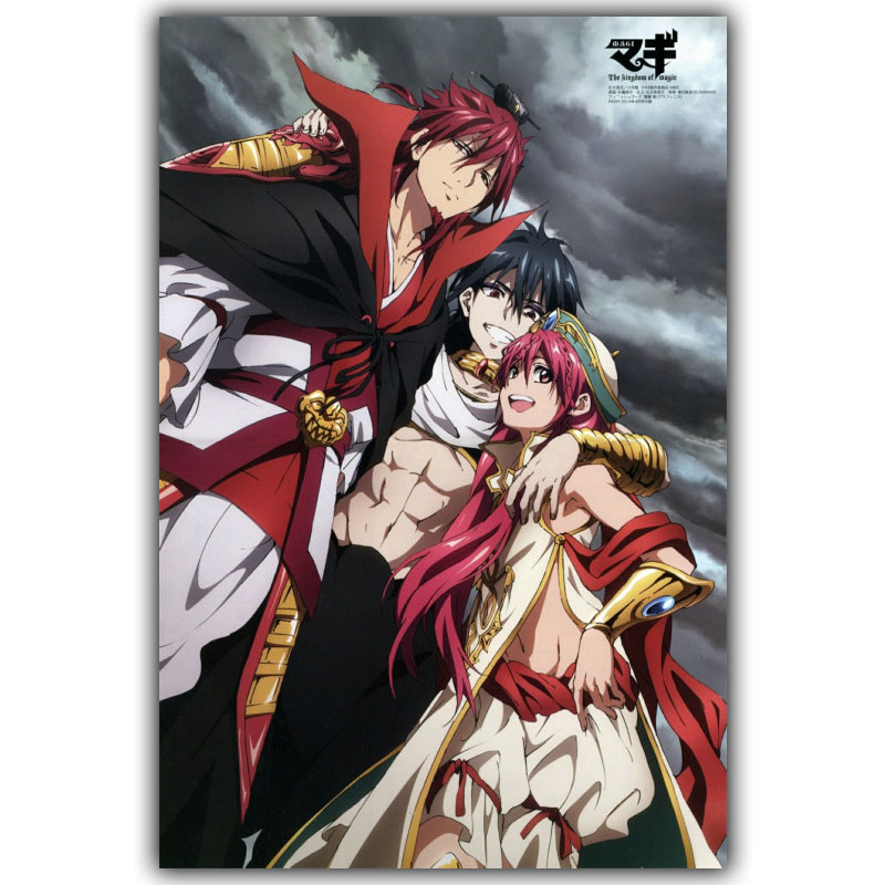 Magi The Labyrinth Of Magic Silk Canvas Fabric Print