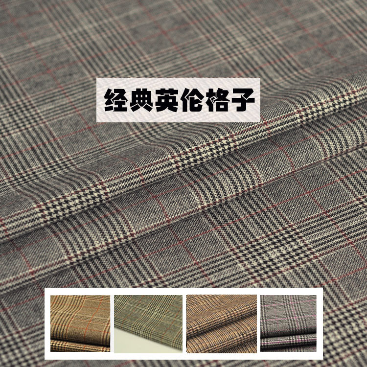 Fabric Apparel Sewing & Fabric Brilliant 150x50cm Semi-worsted Grid Wool+acrylic Fibres+polyester Fabric Windproof Lattice Fabric For Fashion Cloth,jacket,trousers