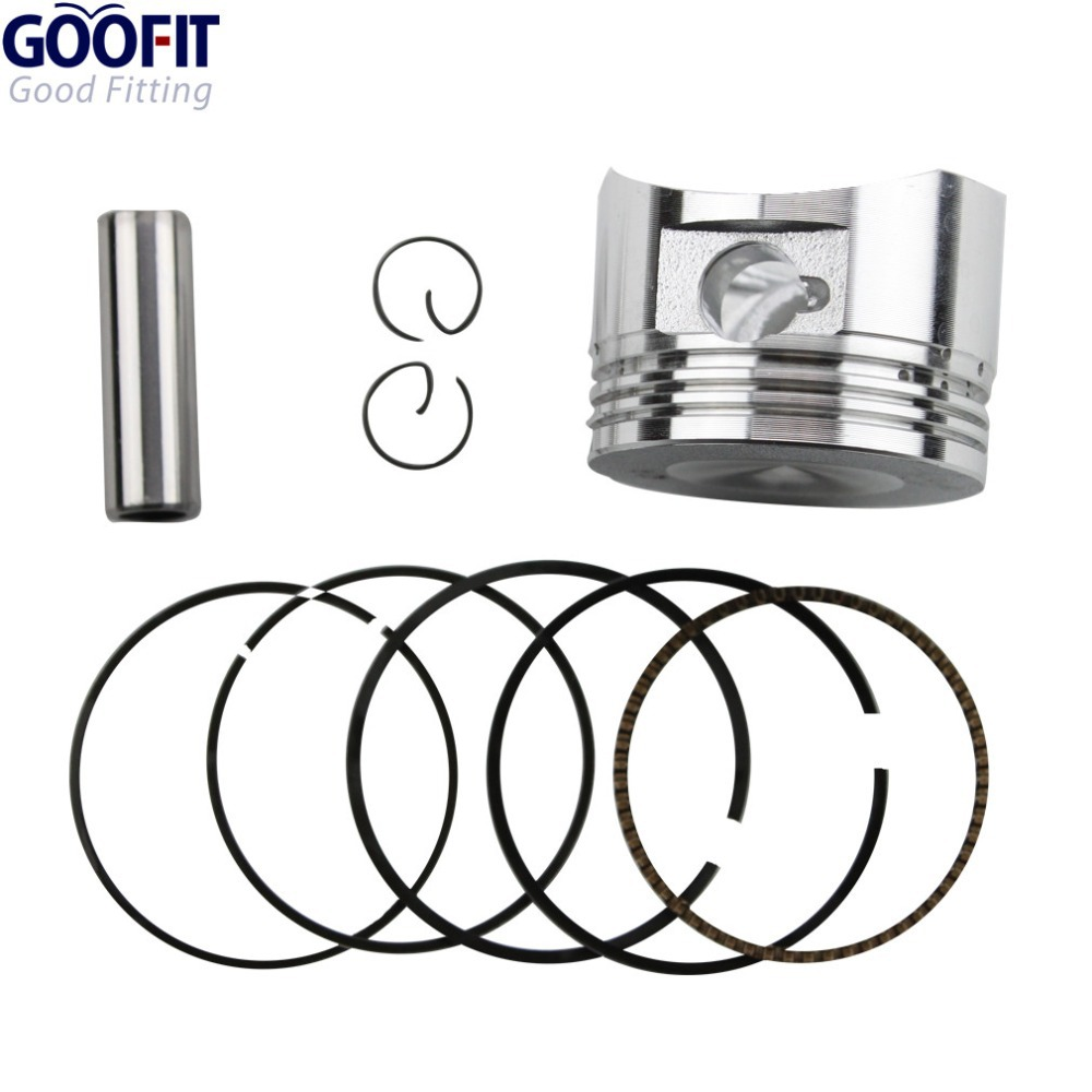 GOOFIT Motor 52.4mm Zuigerveer 13mm Pin Set Kit Assembly voor 110cc ATV Crossmotor & Go Kart K082-004