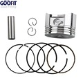 Motocicleta GOOFIT 52.4mm Pistón Anillo 13mm Pin Kit Determinado de la Asamblea para 110cc 125cc ATV Dirt Bike & Go Kart K082-004