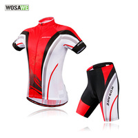 WOSAWE Men's Jersey Set Sport Maillot Ciclismo Bike Cycling Jersey Bicycle Clothes MTB Cycle Shirt Shorts Suit Mountain Bike Set
