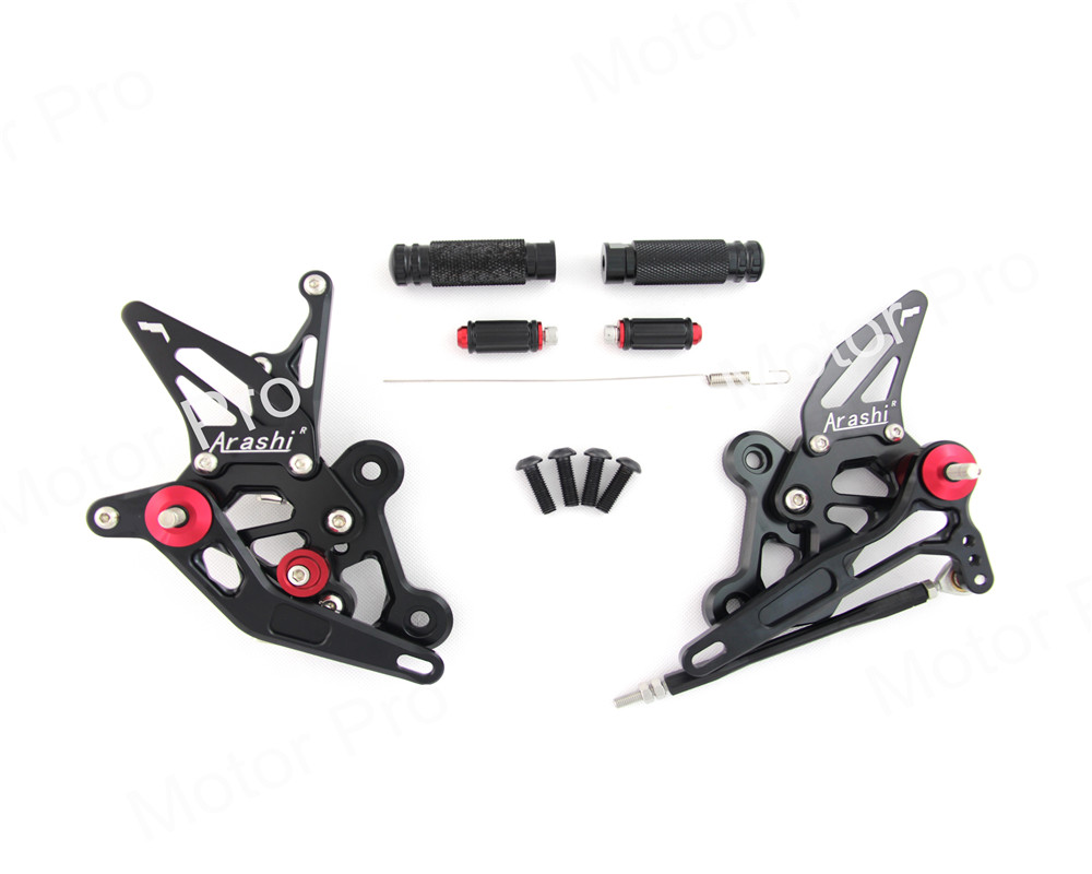Adjustable Footrests For SUZUKI GSR750 GSR 750 2011-2017 2012 2013 2014 2015 2016 Foot Pegs Rearset Pedal GSX S750 GSX-S 750 for suzuki gsr600 2006 2011 gsr750 gsx s750 2011 2016 cnc adjustable motorcycle folding extendable clutch brake levers set