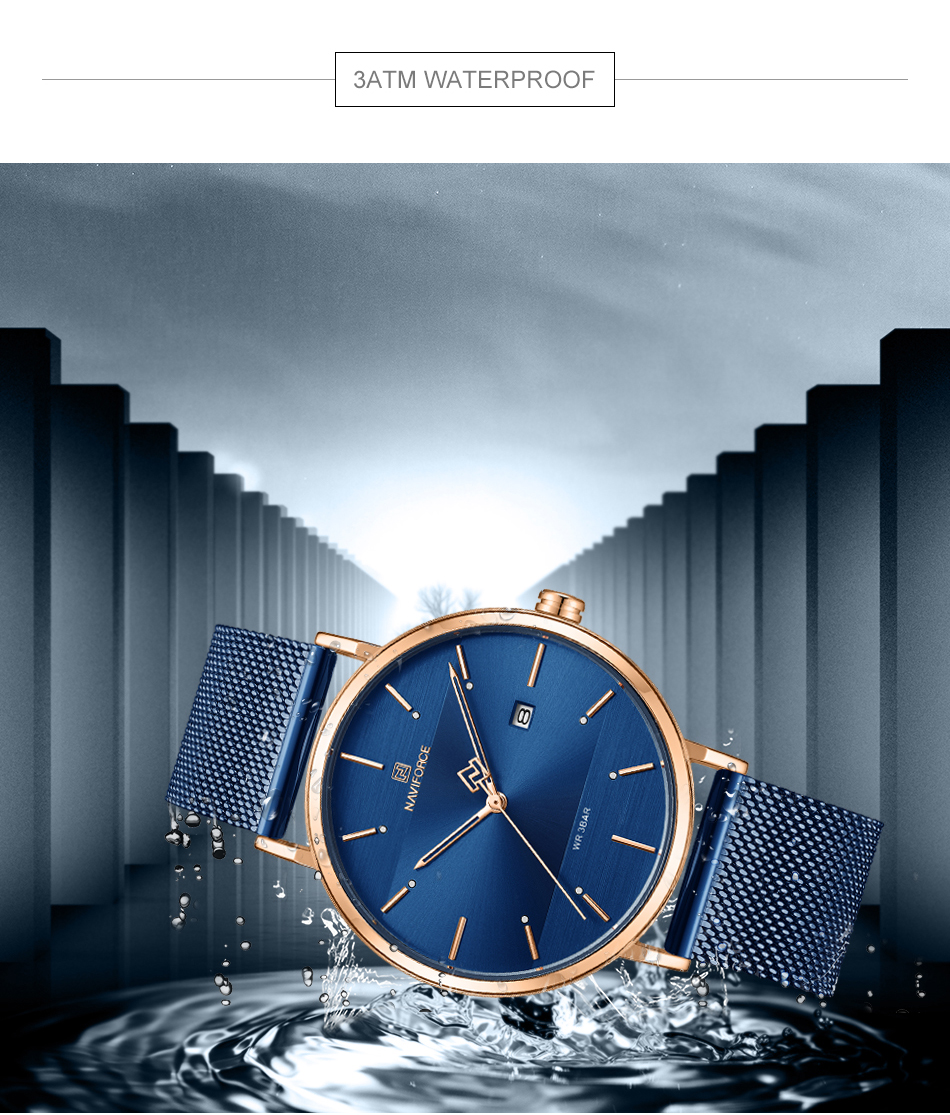 NAVIFORCE New Stylish Women Watches Top Brand Luxury Stainless Steel Strap Quartz Wristwatch For Woman Bracelet Watch 2019 Gift  (12)
