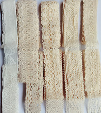 10 yard mixed Vintage Embroidered Lace Edge Trim Cotton Crochet Appliques Sewing Craft