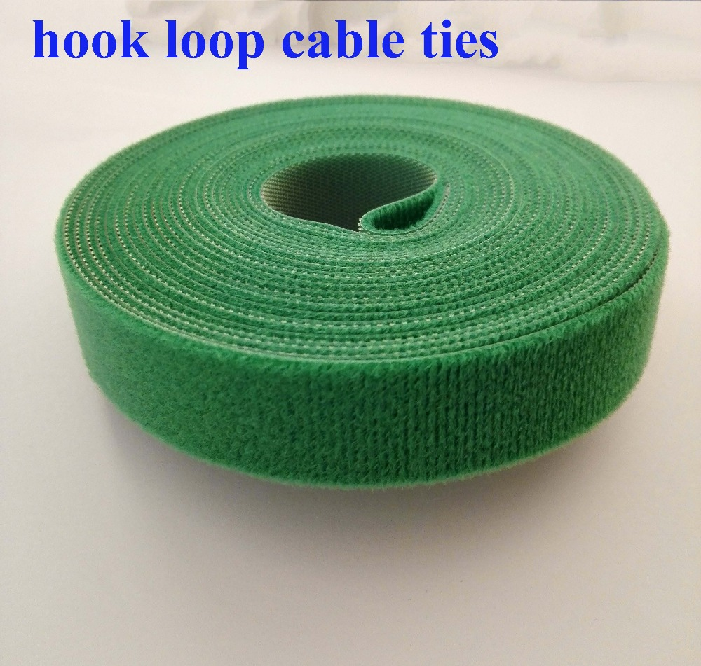 2 rolls 15mm*5M reusable nylon cable ties Self-gripping Strap Stick Ties Computer PC TV Wire Management magic tape thin hook tie