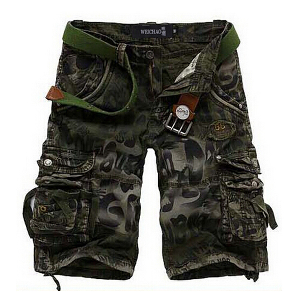 Free shipping New 2015 Men shorts Superior quality camo cargo military camouflage Shorts casual cotton shorts
