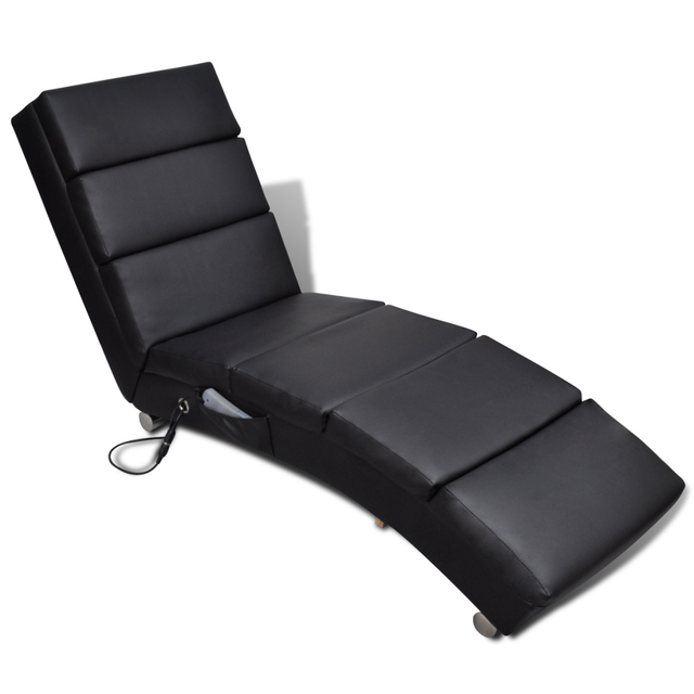 IKayaa Functional Electric Massage Chair Black Armchair Chaise Lounge For  Living Room ES Stock
