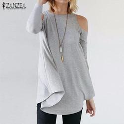 Zanzea women tops 2017 autumn blusas ladies sexy tunic off shoulder long sleeve pullover casual loose.jpg 250x250