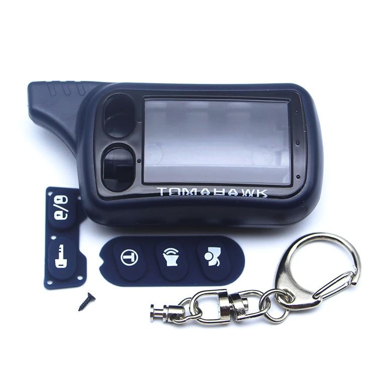 Free Shipping TZ9010 Case Keychain for Two way Car Alarm System Tomahawk TZ-9010 TZ-9030 TZ9030 key Fob Chain tomahawk tz 7010