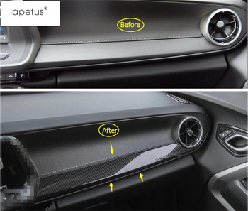 Accessories Fit For Chevrolet Camaro 2016 - 2020 ABS The Co-pilot Central Control Strip Molding Cover Kit Trim Carbon Fiber Look