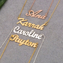 Lateefah Personalized Name Crown Necklace Handmade Customized Cursive Font  Nameplate Pendant Chain Jewelry Birthday Gift Jewelry