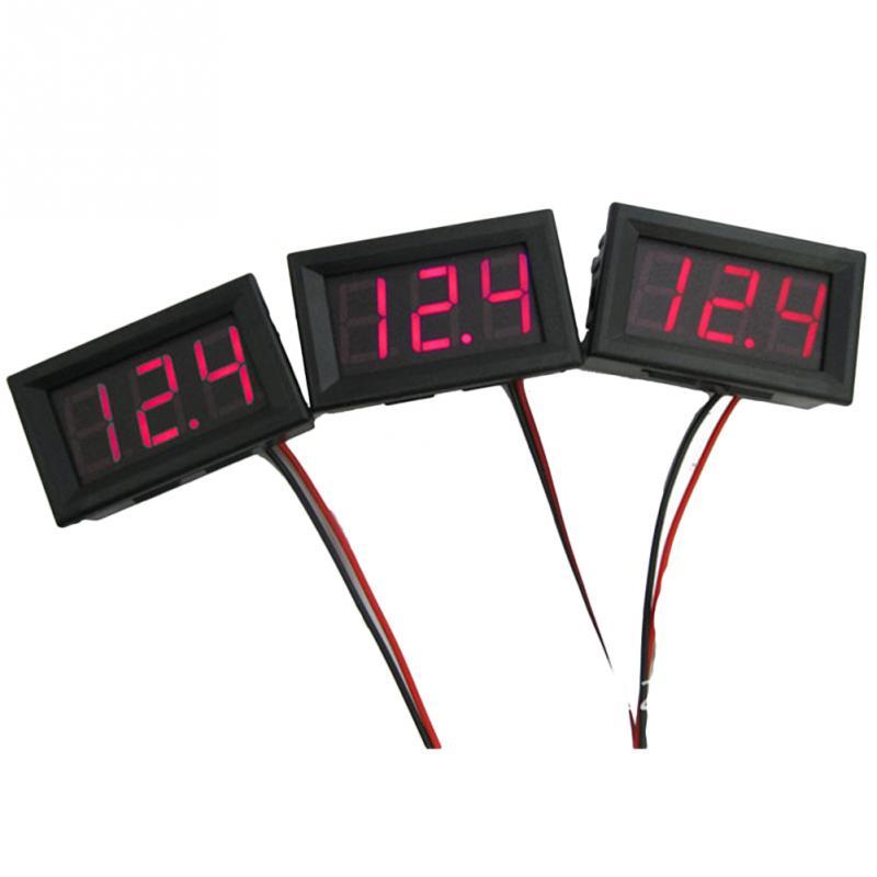 1pc LCD digital voltmeter ammeter voltimetro Red Mini LED Amp amperimetro Volt Meter Gauge voltage meter D-C Wholesale 2pc lcd digital voltmeter ammeter voltimetro red led amp amperimetro volt meter gauge voltage meter dc wholesale