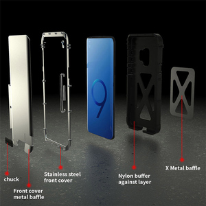 Image 3 - For Samsung s10 Metal Flip Cover Original R just Aluminum Case for Samsung galaxy s10 s9 plus note 9 Anti Knock Phone Bag Cases
