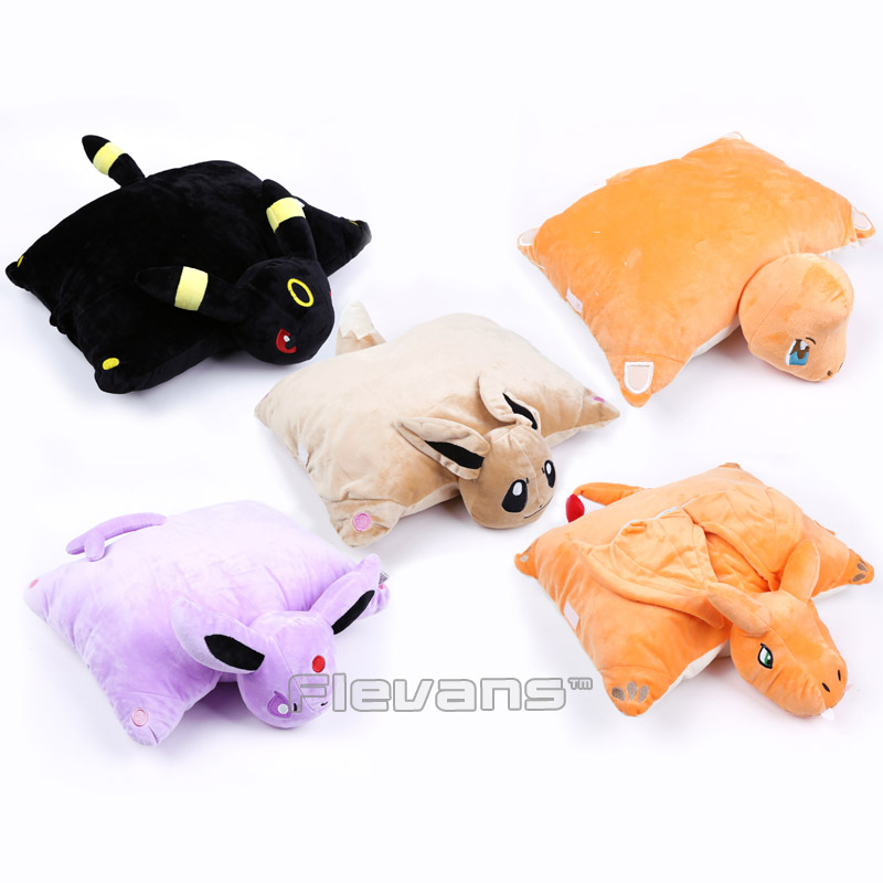 Cute Cartoon Cushion Eevee Espeon Umbreon Charmander Charizard Pillow Soft Stuffed Animal Plush Doll Toys Home & Garden Pillow bering 32426 707
