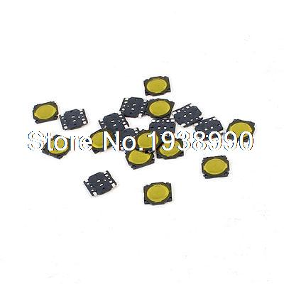20 Pcs 3.7x3.7x0.35mm 4Pin Momentary Push Button PCB SMD SMT Tactile Tact Switch 100 x smd smt pcb momentary 2 pin spst tactile tact switch 6mm x 3mm x 3 5mm