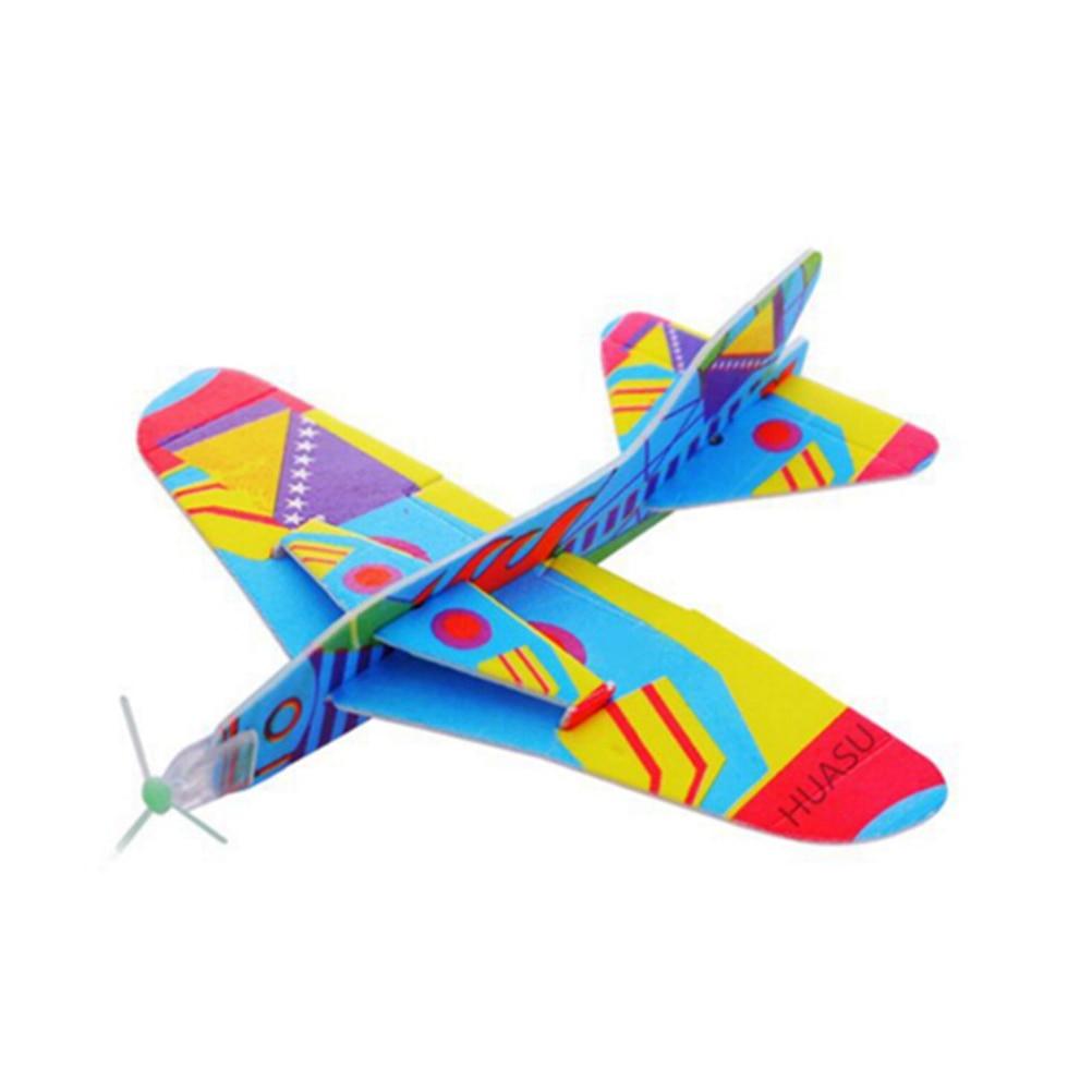 2017 12pcs Diy Hand Throw Flying Glider Planes Foam: DIY Hand Throw Flying Glider Planes Foam Aeroplane Glider