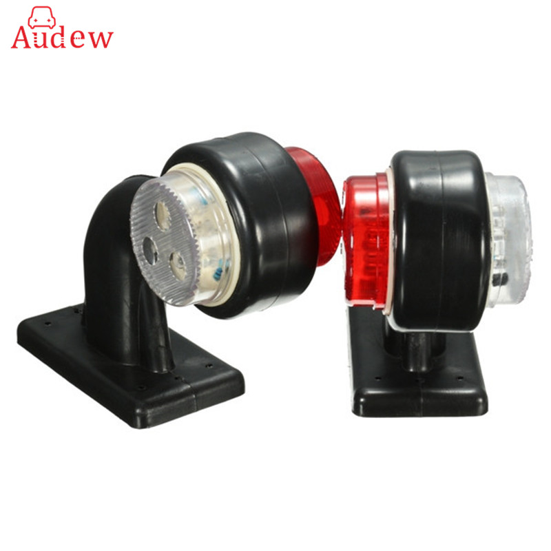 2Pcs White Red LED Car Truck Van Side Strobe Light Warning Flasher Caution Emergency Construction Super Bright