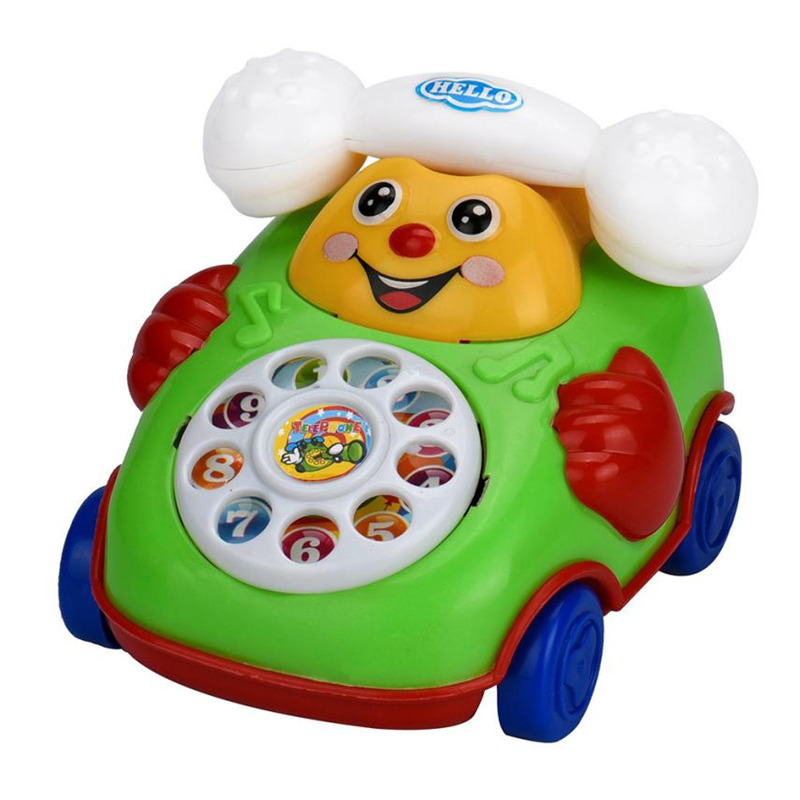 Toy Educational-Toys Gift Kids Cartoon Oct-21 Car-Developmental Smile-Phone Levert Dropship