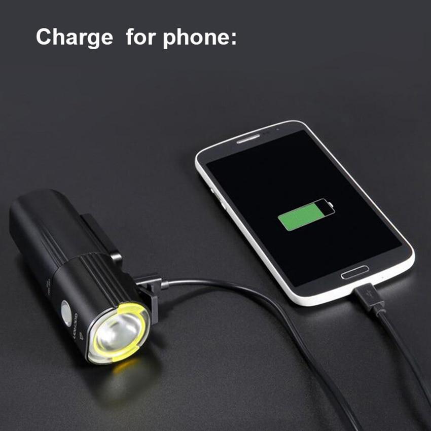 Велосипедный USB светильник L2, светильник для велосипеда, светодиодный портативный светильник для мобильного телефона с 26650 батареей, водонепроницаемый велосипедный светильник s - 5