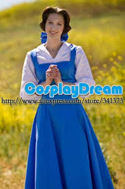 custom made blue belle princess cosplay costumes village dress for adults party dress fairy tale fancy dress costume in anime costumes from novelty