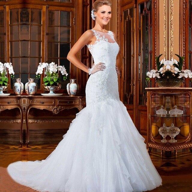 KSD096 vestidos de novia Elegant Custom Made Fishtail Wedding Gowns ...
