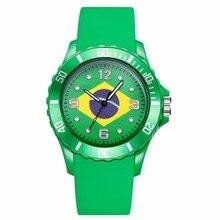 2018 Copa Del Mundo de Silicona Hombres de Las Mujeres Relojes de Moda Rusia Brasil Bandera Americana Sprots reloj de Cuarzo Ocasional reloj de la Hora