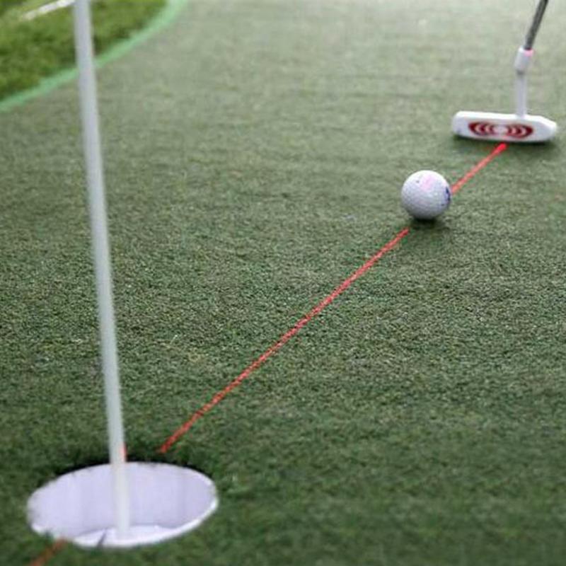 Golf Putter Laser Sight Training Golf Practice Aid Aim Line Corrector Putting Laser Sight Aid Golf Training Accessories