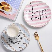 Bone China Papier-kuchen-teller und Platten Porzellan Backwaren Obst Keramik Geschirr für Steak Dinner Dekoration