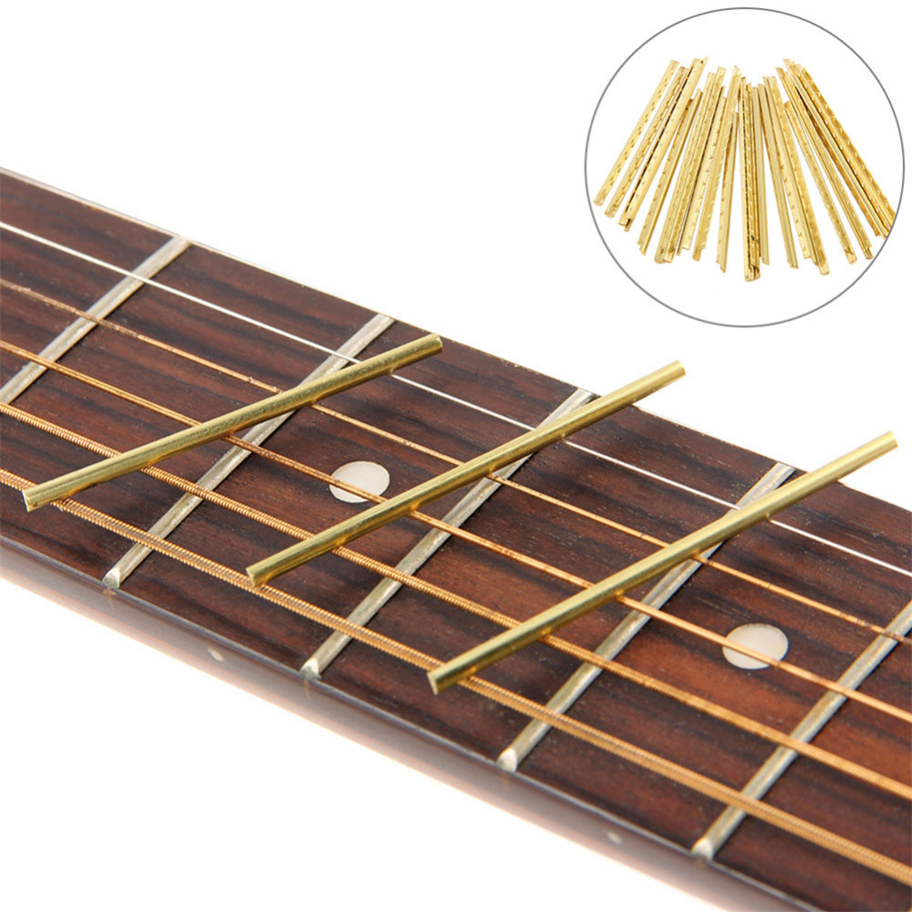 Reasonable 21 Pcs Brass Acoustic Guitar Fret Wire Guitar Part 2.2mm /0.09in In Width Fingerboard Line Fretwire Guitar Accessories Sports & Entertainment