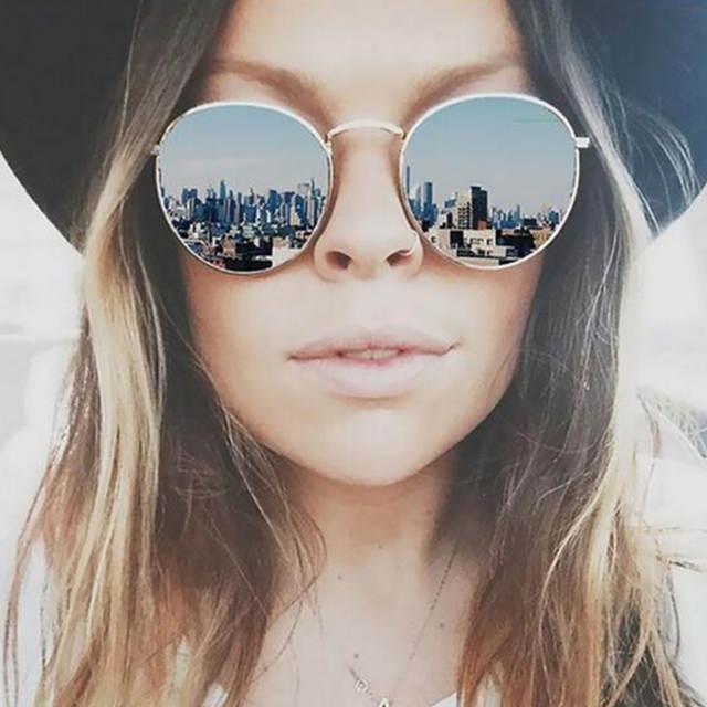 cbaa302dc CANCHANGE 2019 Rétro lunettes de soleil rondes Femmes Marque ...