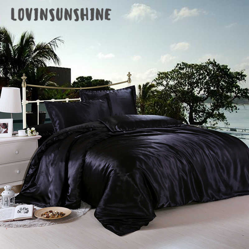 LOVINSUNSHINE Comforter Bedding Sets Luxury Bed Cover And Bedspreads Satin Bed Sheets AB#14